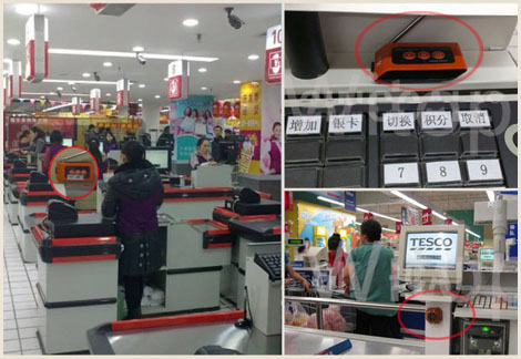 Wireless calling system solution of supermarket